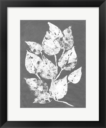 Framed Frosty Philodendron I Print