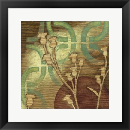 Framed Ornamental Garden II Print