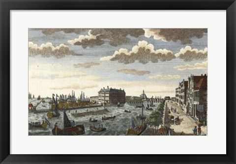 Framed Amsterdam Harbor & Dock-yard Print