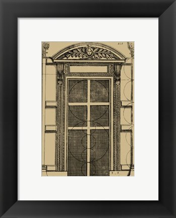 Framed Palladian Door Print