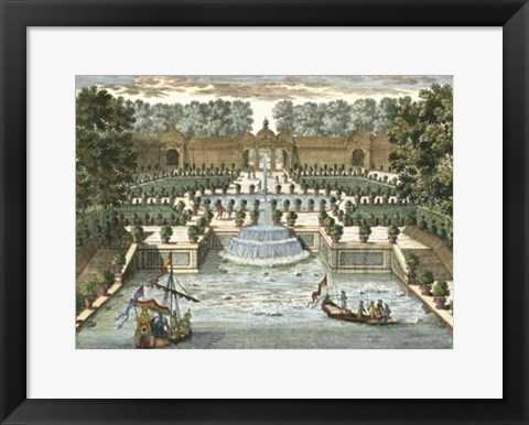 Framed View of France II Print