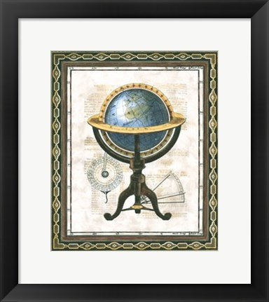 Framed Traditional Globe I Print