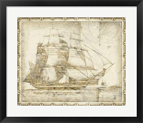 Framed Ghost Ship I Print