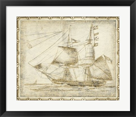 Framed Ghost Ship II Print