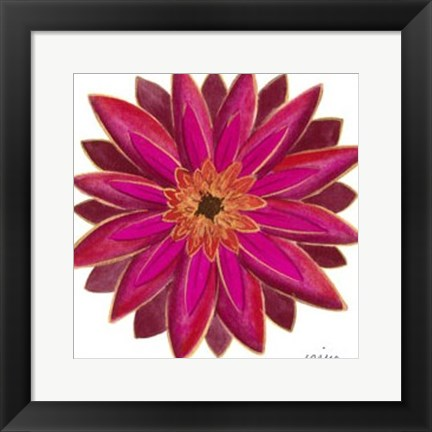 Framed Bright Blossoms III Print