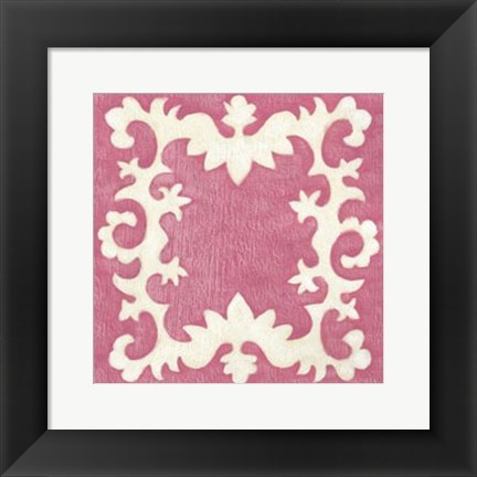 Framed Petite Suzani in Pink Print