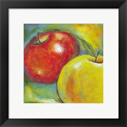 Framed Abstract Fruits IV Print