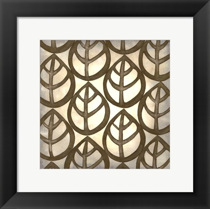 Framed Classical Leaves III Print