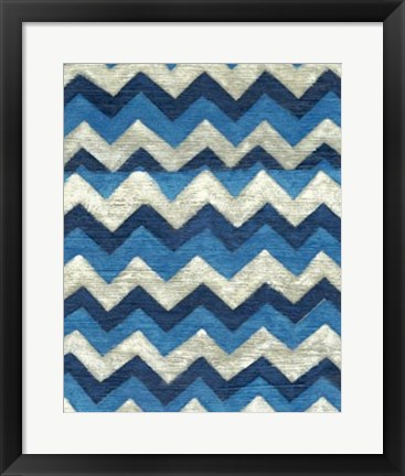 Framed Silk Road Ikat IV Print