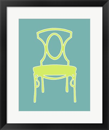 Framed Graphic Chair I Print