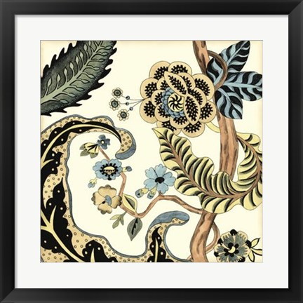 Framed Jacobean Tile I Print