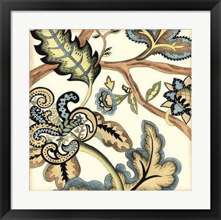 Framed Jacobean Tile II Print