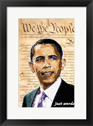 Framed Barack Obama - (We the People) Campaign Poster Print