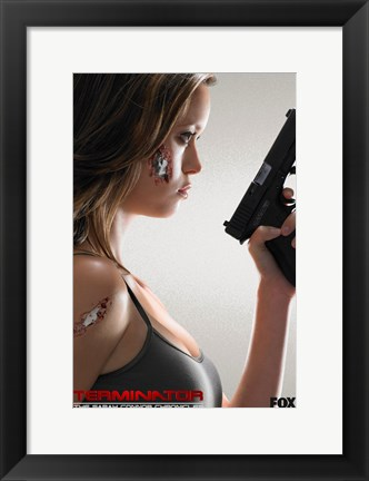Framed Terminator: The Sarah Connor Chronicles - style BD Print