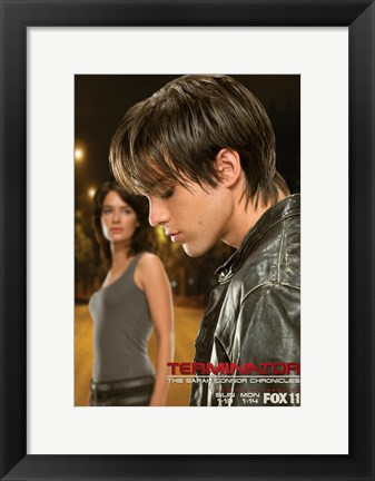 Framed Terminator: The Sarah Connor Chronicles - style T Print
