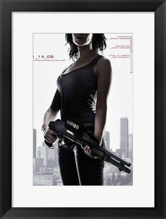 Framed Terminator: The Sarah Connor Chronicles - style Y Print