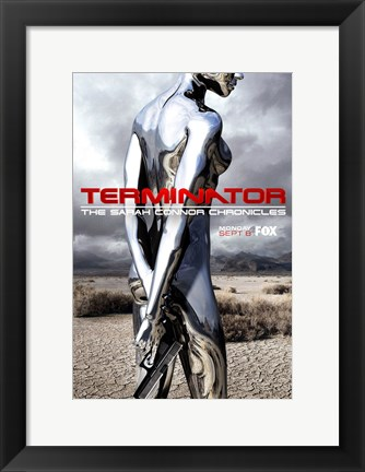Framed Terminator: The Sarah Connor Chronicles - style Z Print