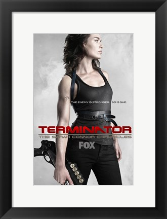 Framed Terminator: The Sarah Connor Chronicles - style AA Print