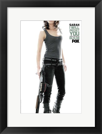 Framed Terminator: The Sarah Connor Chronicles - style AF Print