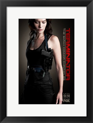 Framed Terminator: The Sarah Connor Chronicles - style AG Print