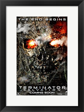 Framed Terminator: Salvation - style D Print