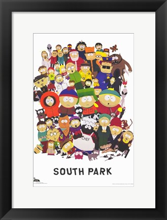 Framed South Park - style A Print