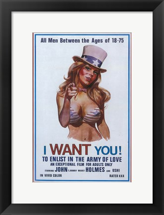 Framed I Want You! To Enlist in the Army of Love, c.1970 Print