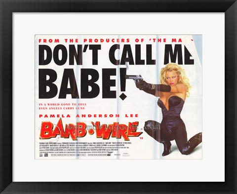 Framed Barb Wire - style C Print