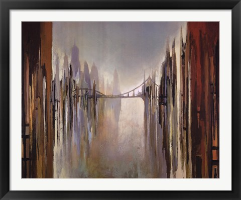 Framed Bridges and Towers Print