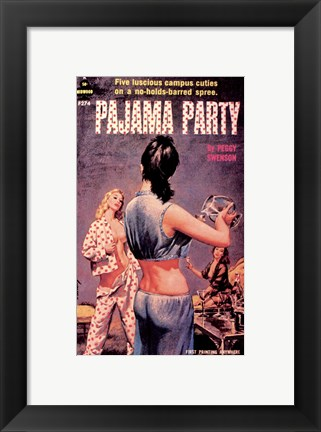 Framed Pajama Party Print