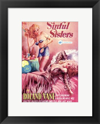 Framed Sinful Sisters Print
