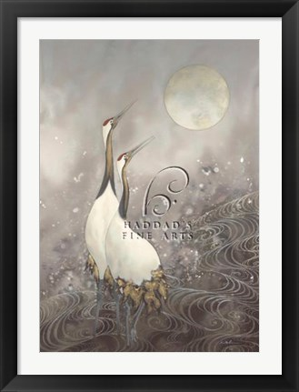 Framed Greeting the Moon Print