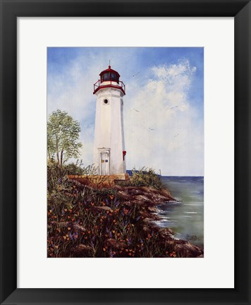 Framed Cheboygan Crib Light Print