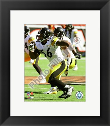 Framed LaMarr Woodley 2008 Action Print