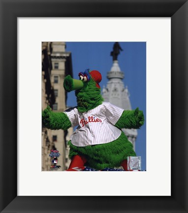 Framed Philly Phanatic 2008 World Series Parade Print