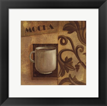 Framed Deco Coffee II Mocha Print