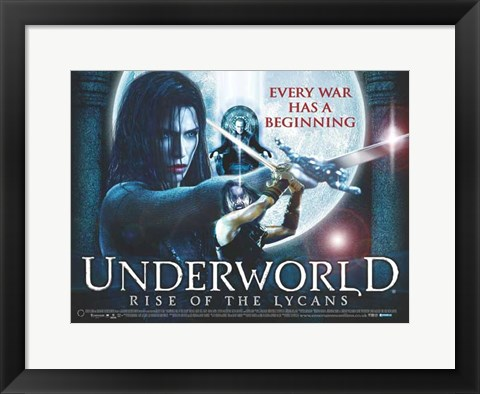 Framed Underworld 3: Rise of the Lycans, c.2009 - style C Print