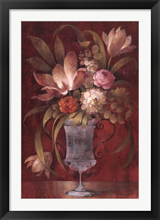 Framed Morning Arrangement I Print