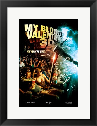 Framed My Bloody Valentine 3-D, c.2009 - style C Print