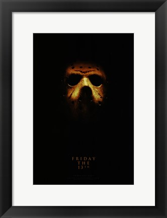 Framed Friday the 13th, c.2009 - style B Print