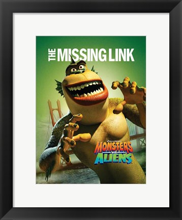 Framed Monsters vs. Aliens, c.2009 - style L Print