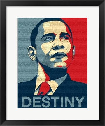 Framed Obama - Destiny Print