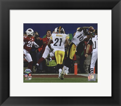 Framed Santonio Holmes Game Winning Touchdown - Super Bowl XLIII - #6 Print