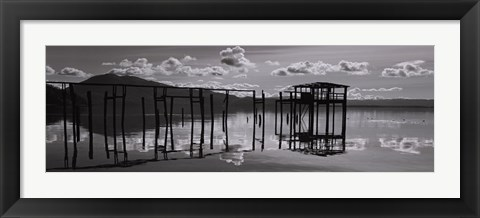 Framed Reflections, Clear Lake Print
