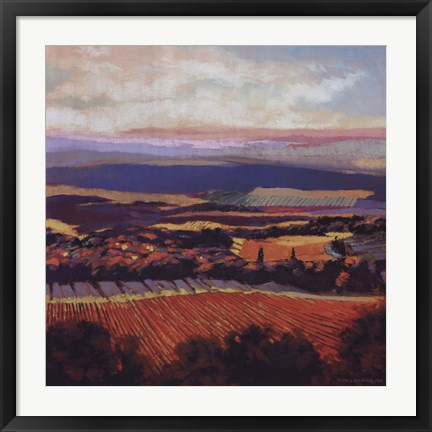 Framed Tuscan Sunrise Print