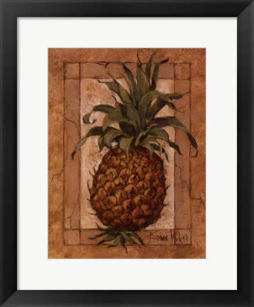 Framed Pineapple Pizzazz Print