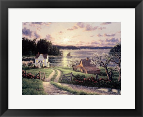 Framed Island Sunset Print