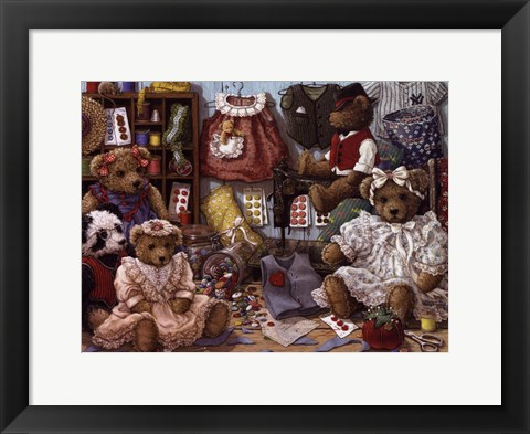 Framed Teddy Bear Wear Print