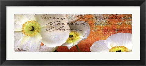 Framed Poppies Composition IV Print