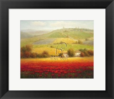 Framed Fields of Red and Gold II Print
